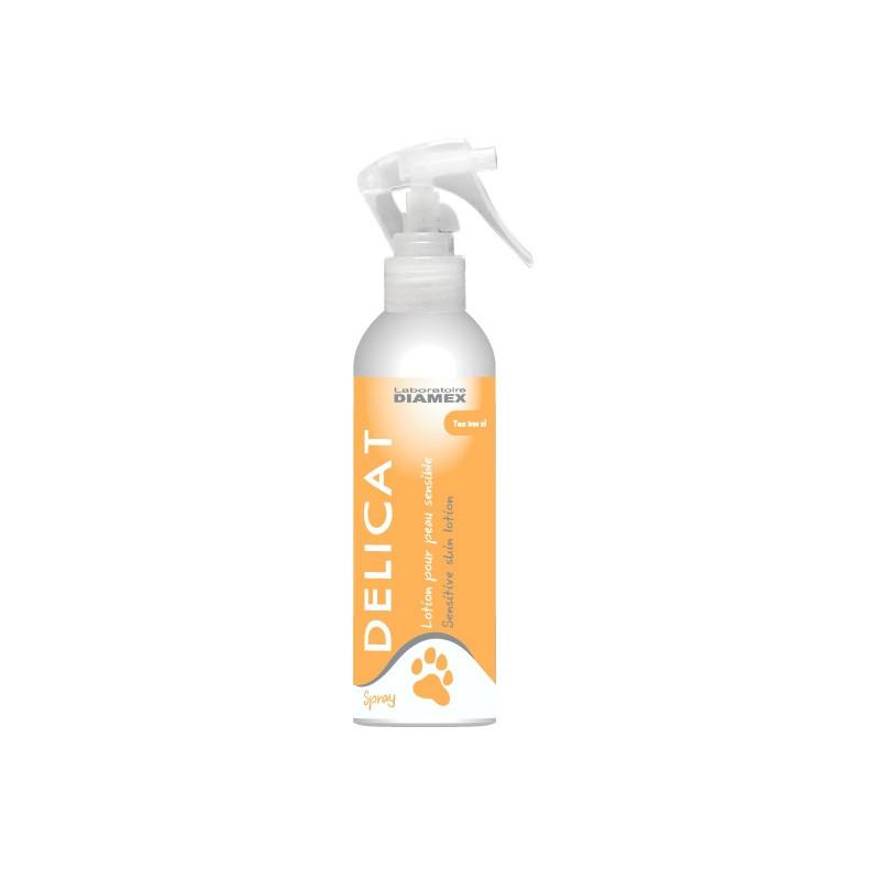 Diamex Delicat Spray 200 Ml. Produit de soin pour chien. Soulage irritations et démangeaisons. Au Tea Tree Oil
