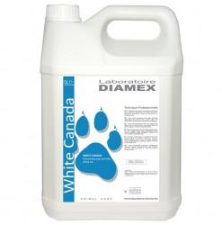 Diamex Shampooing White Canada 5l. Shampooing pour chat à poil blanc. Atténue le jaunissement.