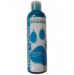 Diamex Shampooing White Canada 250 Ml. Shampooing pour chat. Atténue le jaunissement. Apporte brillance et éclat.