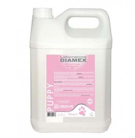 Diamex Shampooing Puppy 5l. Shampooing pour chiot et jeune chien. Au PH équilibré.
