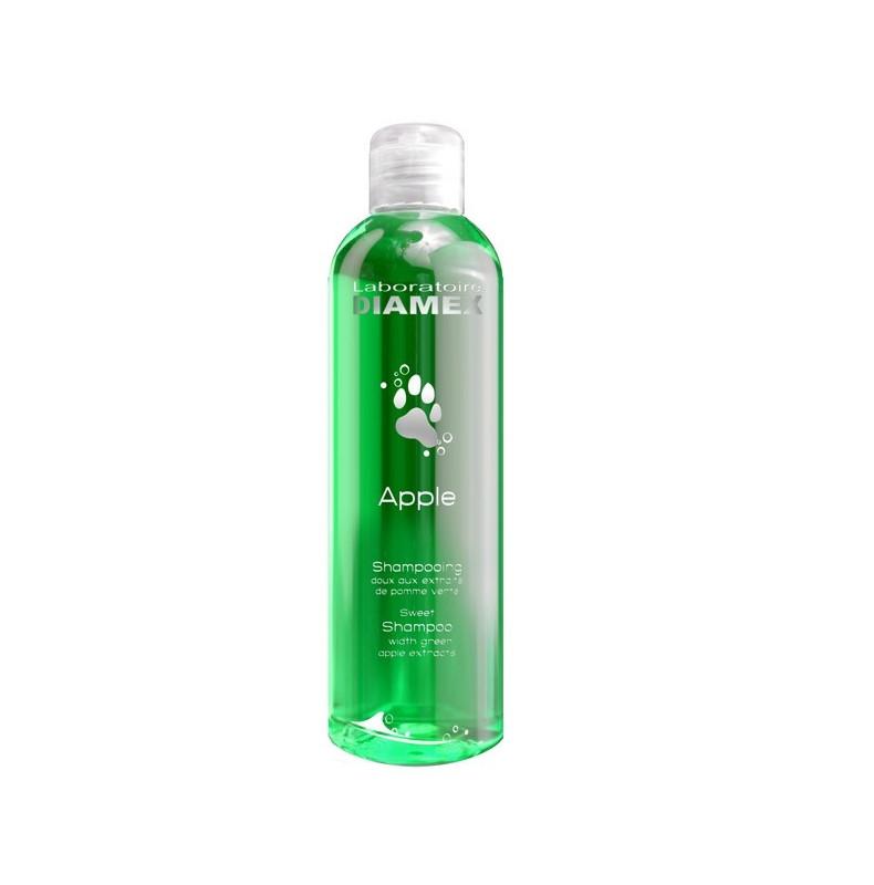 Diamex Shampooing Apple 250 Ml. Shampooing pour chien. A l'extrait de pomme. Ravive les couleurs.