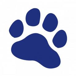 Stickers Patte 20cm Bleu