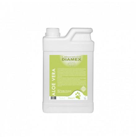 Diamex Shampooing Aloe Vera 1l. Shampooing pour chien.  Nourrit le poil et stabilise le PH.