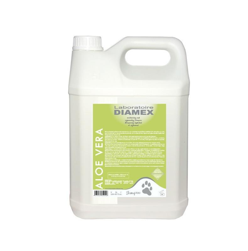 Diamex Shampooing Aloe Vera 5l. Shampooing pour chien. Pouvoir nourrissant.