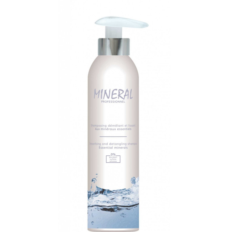 Mineral Shampooing 250ml. Shampooing démêlant pour chien. A l'eau de source. Avec des minéraux essentiels. A base d'huile sèche.