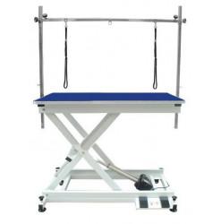 Dg Table Electrique Commande Pied Potence Double Bleue