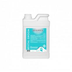 Diamex Shampooing Revital Groom 1l. Shampooing pour chien. Adaptés pour les poils abîmés. Action grasse et démêlante.