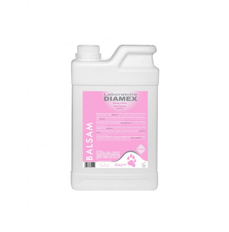 Diamex Apres Shampooing Balsam 1l. Après-shampooing pour chien. Apporte volume et neutralise l'électricité statique.