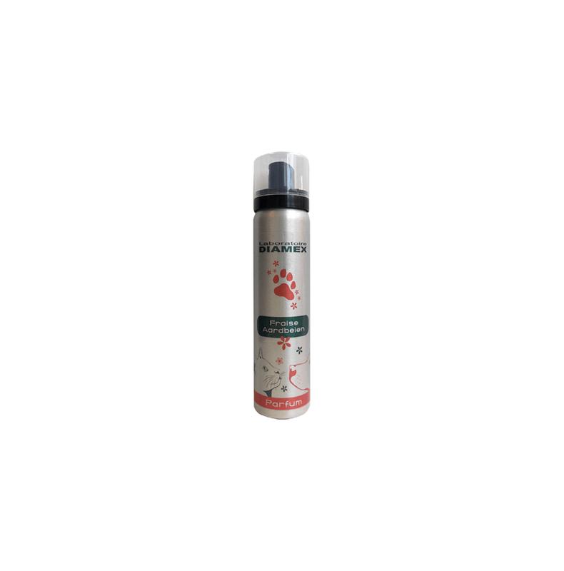Diamex Parfum Fraise 100ml. Parfum pour chien. Senteur Fruitée Fraise
