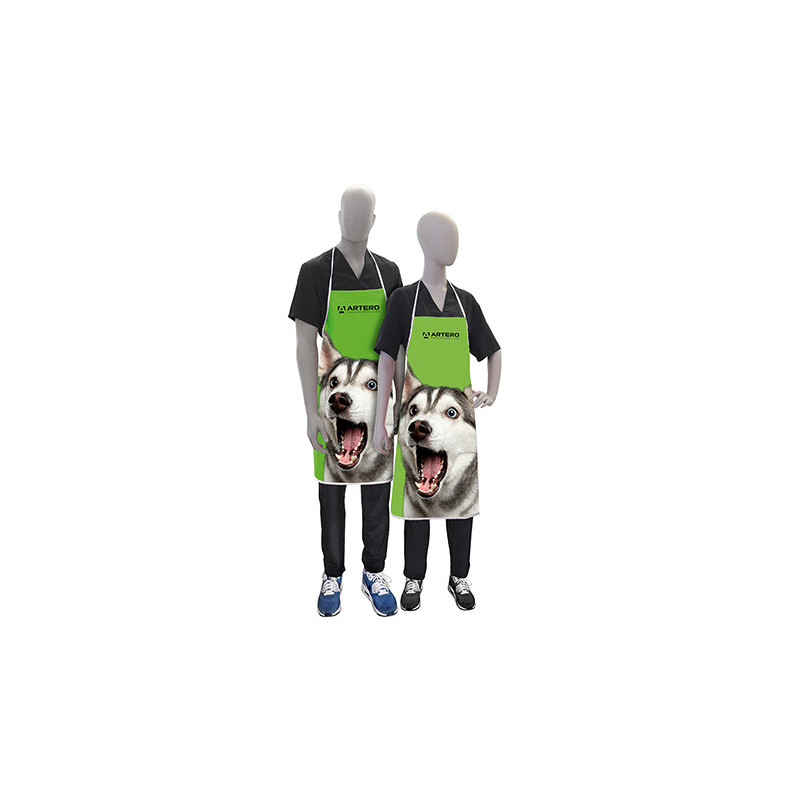 Artero Tablier Doggy Vert. Tenue professionnelle de toilettage