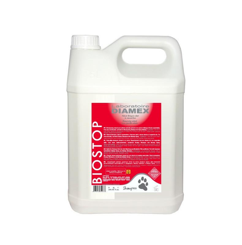 Diamex Shampooing Biostop 5l. Shampooing antiparasitaire pour chien. Aux huiles essentielles.