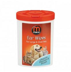 Mikki Lingettes Pour Les Oreilles-17p. Produit nettoyant pour l'oreille du chien