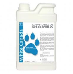 Diamex Shampooing White Canada 1l. shampooing pour chat à poil blanc. Atténue le jaunissement.