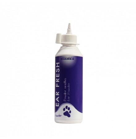 Diamex Ear Fresh 24gr. Soin des oreilles pour chien. Réduit les mauvaises odeurs. Facilite l'épilation. Garde l'oreille sèche.