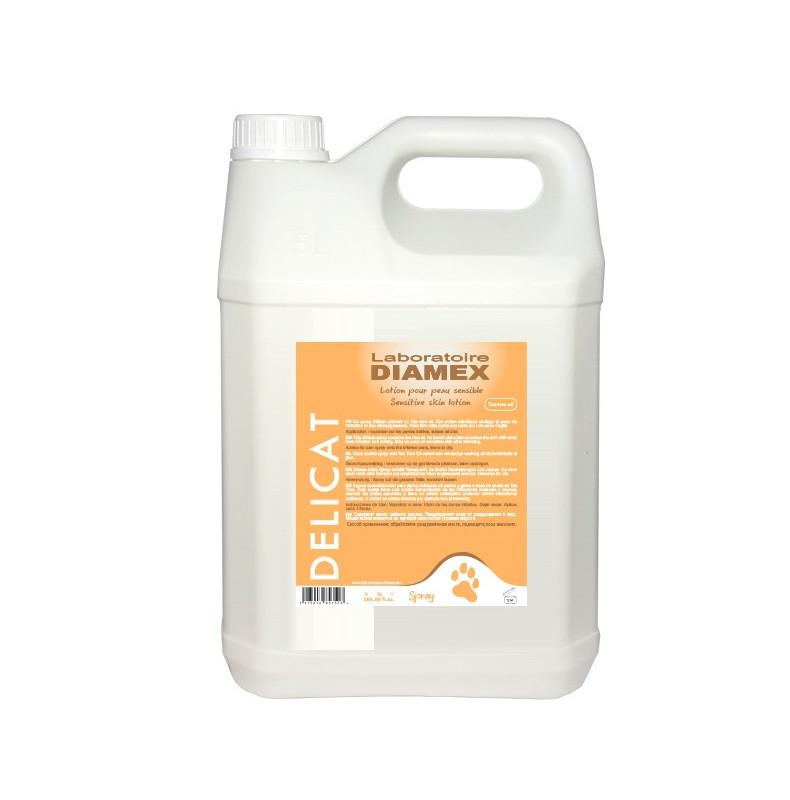 Diamex Delicat Spray 5l. Soin de la peau pour chien. Formulé à base de Tea Tree Oil. Calme irritations et démangeaisons.
